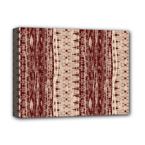Wrinkly Batik Pattern Brown Beige Deluxe Canvas 16  X 12   by EDDArt