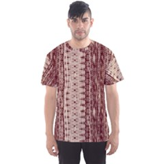 Wrinkly Batik Pattern Brown Beige Men s Sport Mesh Tee by EDDArt