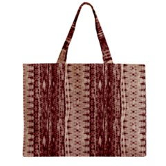 Wrinkly Batik Pattern Brown Beige Zipper Mini Tote Bag by EDDArt