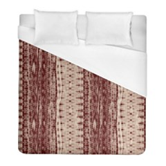 Wrinkly Batik Pattern Brown Beige Duvet Cover (full/ Double Size) by EDDArt
