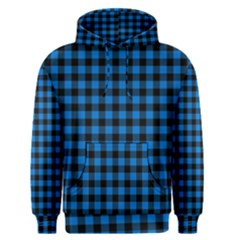 Lumberjack Fabric Pattern Blue Black Men s Pullover Hoodie by EDDArt