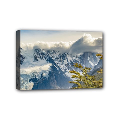 Snowy Andes Mountains, El Chalten Argentina Mini Canvas 6  X 4  by dflcprints