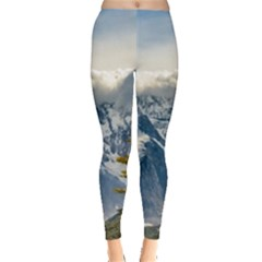 Snowy Andes Mountains, El Chalten Argentina Leggings  by dflcprints