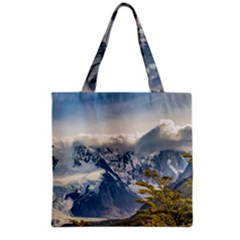 Snowy Andes Mountains, El Chalten Argentina Grocery Tote Bag by dflcprints
