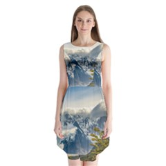 Snowy Andes Mountains, El Chalten Argentina Sleeveless Chiffon Dress   by dflcprints