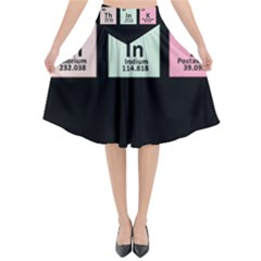 Think   Chemistry Flared Midi Skirt