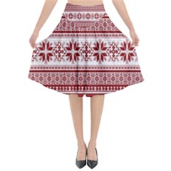 Pattern Flared Midi Skirt by Valentinaart