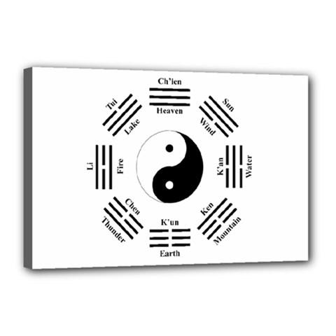I Ching  Canvas 18  X 12  by Valentinaart