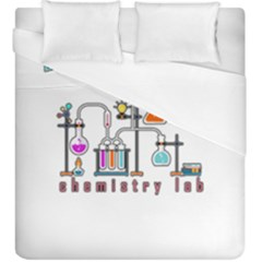 Chemistry Lab Duvet Cover (king Size) by Valentinaart
