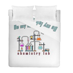 Chemistry Lab Duvet Cover Double Side (full/ Double Size) by Valentinaart