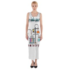 Chemistry Lab Fitted Maxi Dress by Valentinaart