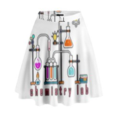 Chemistry Lab High Waist Skirt by Valentinaart
