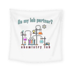 Chemistry Lab Square Tapestry (small) by Valentinaart