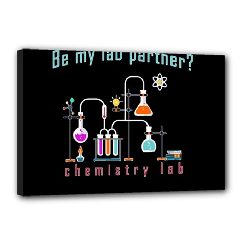 Chemistry Lab Canvas 18  X 12  by Valentinaart
