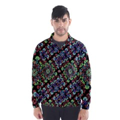 Colorful Floral Collage Pattern Wind Breaker (men) by dflcprintsclothing