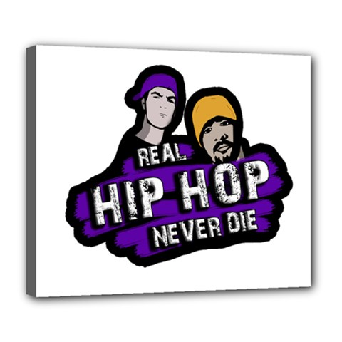 Real Hip Hop Never Die Deluxe Canvas 24  X 20   by Valentinaart