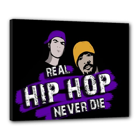 Real Hip Hop Never Die Canvas 20  X 16  by Valentinaart