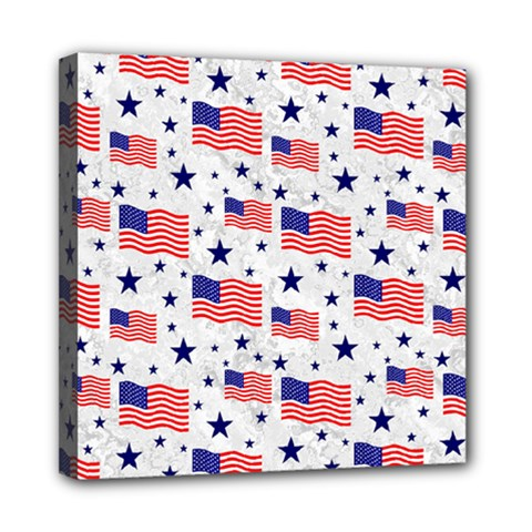 Flag Of The Usa Pattern Mini Canvas 8  X 8  by EDDArt