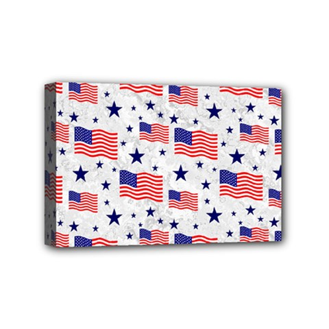 Flag Of The Usa Pattern Mini Canvas 6  X 4  by EDDArt