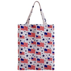 Flag Of The Usa Pattern Classic Tote Bag by EDDArt