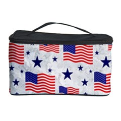 Flag Of The Usa Pattern Cosmetic Storage Case by EDDArt