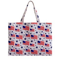 Flag Of The Usa Pattern Zipper Mini Tote Bag by EDDArt