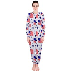 Flag Of The Usa Pattern Onepiece Jumpsuit (ladies)  by EDDArt