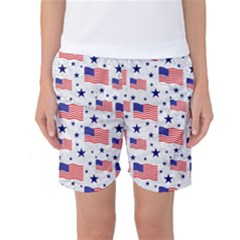Flag Of The Usa Pattern Women s Basketball Shorts by EDDArt