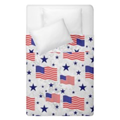 Flag Of The Usa Pattern Duvet Cover Double Side (single Size) by EDDArt