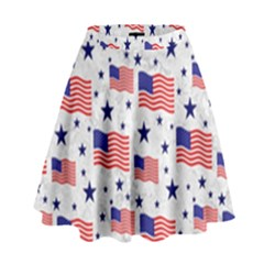 Flag Of The Usa Pattern High Waist Skirt by EDDArt