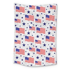 Flag Of The Usa Pattern Large Tapestry by EDDArt