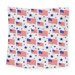 Flag Of The Usa Pattern Square Tapestry (large) by EDDArt