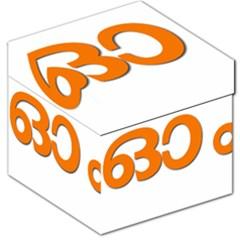 Hindu Om Symbol In Malayalam Script Storage Stool 12   by abbeyz71