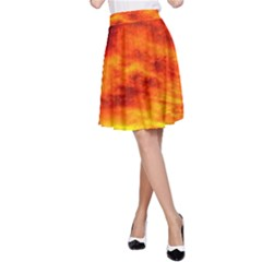 Black Yellow Red Sunset A Line Skirt