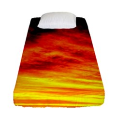 Black Yellow Red Sunset Fitted Sheet (single Size)