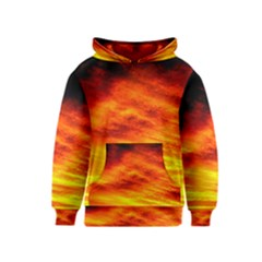 Black Yellow Red Sunset Kids  Pullover Hoodie
