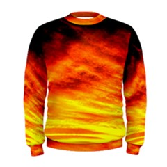 Black Yellow Red Sunset Men s Sweatshirt by Costasonlineshop