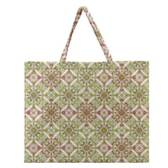 Colorful Stylized Floral Boho Zipper Large Tote Bag by dflcprints