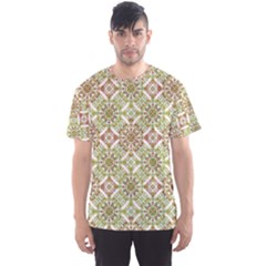 Colorful Stylized Floral Boho Men s Sport Mesh Tee