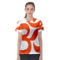 Hindu Om Symbol (orange) Women s Sport Mesh Tee by abbeyz71