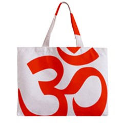 Hindu Om Symbol (orange) Zipper Mini Tote Bag by abbeyz71