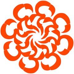 Hindu Om Symbol (orange) Hook Handle Umbrellas (large) by abbeyz71