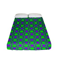 Friendly Retro Pattern A Fitted Sheet (full/ Double Size) by MoreColorsinLife