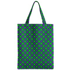 Friendly Retro Pattern A Zipper Classic Tote Bag by MoreColorsinLife