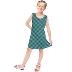 Friendly Retro Pattern A Kids  Tunic Dress by MoreColorsinLife