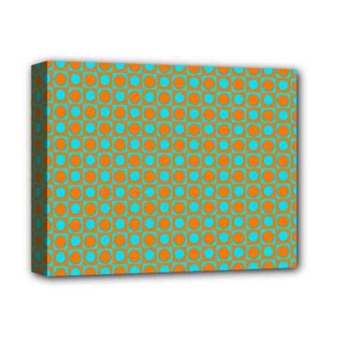 Friendly Retro Pattern D Deluxe Canvas 14  X 11  by MoreColorsinLife