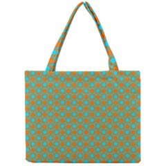 Friendly Retro Pattern D Mini Tote Bag by MoreColorsinLife