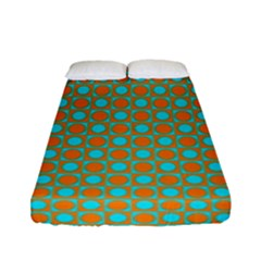 Friendly Retro Pattern D Fitted Sheet (full/ Double Size) by MoreColorsinLife