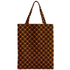 Friendly Retro Pattern F Zipper Classic Tote Bag by MoreColorsinLife