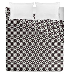 Friendly Retro Pattern H Duvet Cover Double Side (queen Size) by MoreColorsinLife